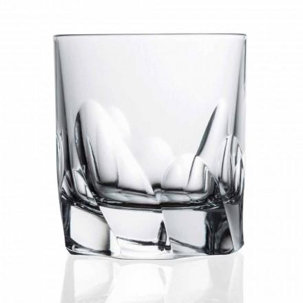 Dekorierter Kristallglas Whisky oder Wasser 12 Stück Dof Design - Titan
