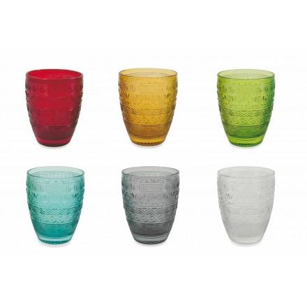 Modernes farbiges Glas, das Gläser für Wasser - Volk dient