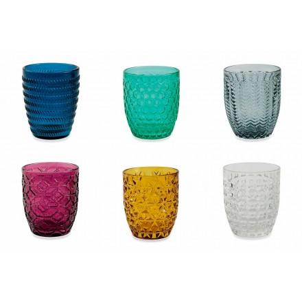 Moderne farbige Glas dekorierte Gläser, die Wasser 12 Stücke dienen - mischen