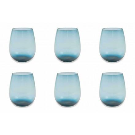 Modernes und farbiges Glas Wasserglas Service von 12 Stück - Aperi