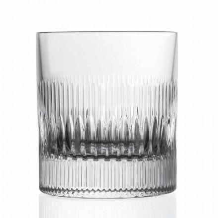 Kristall Whisky und Wassergläser 12 Stück Vintage Style Dekor - Taktil