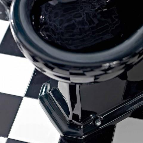 Bidet in weißer oder schwarzer klassischer Keramik aus dem Boden Made in Italy - Marwa