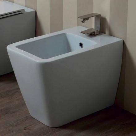Bidet aus weißer Keramik modernes Design Sun 55x35cm made in Italy