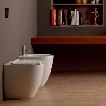 Modernes Design-Keramik-Bidet Shine Square Open Randlos H50 cm