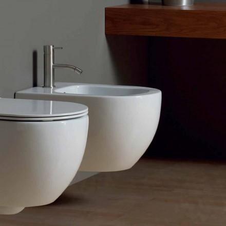 Modernes hängendes Bidet aus weißer Keramik Star 50x35cm made in Italy