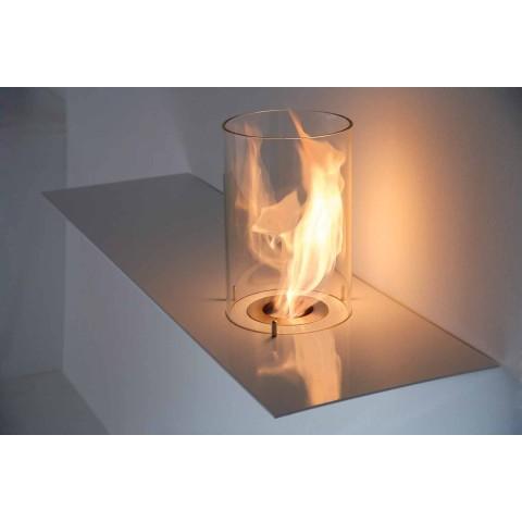 Biofireplace für modernes Design aus lackiertem Stahl und Glas - Malcolm