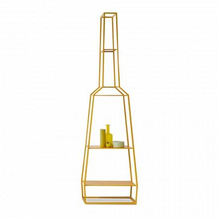 Bonaldo April Bücherregal aus buntem Metall 210x60 Design made Italy