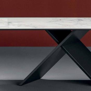 Bonaldo Axe flacher Designtisch aus Keramik Metallsockel aus Italien