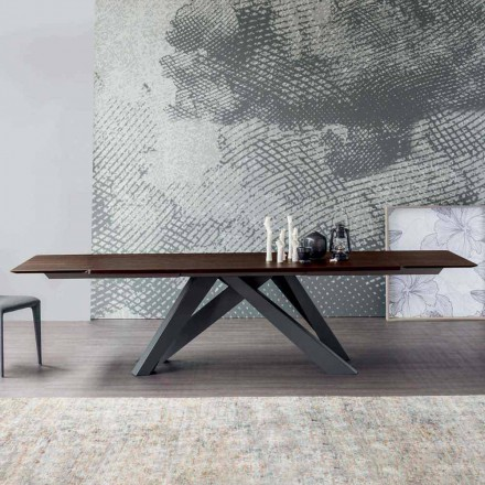 Bonaldo Big Table Ausziehtisch aus Holz, Design made in Italy