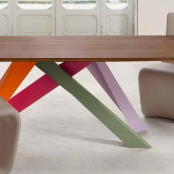 Bonaldo Big Table ausziehbarer Tisch aus Holzfurnier, hergestellt in Italien