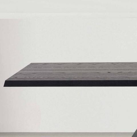Bonaldo Big Table massiv anthrazitgrau Holz Tisch in Italien hergestellt