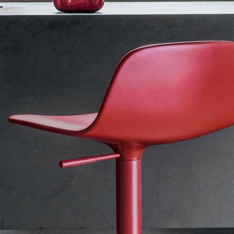 Bonaldo Bonnie schwenkbarer verstellbarer Stahlhocker Made in Italy Bonnie