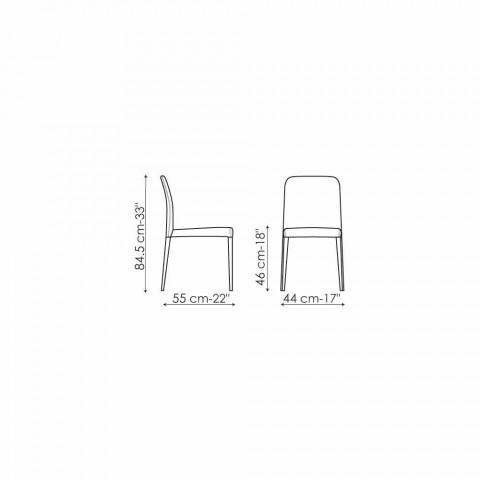 Bonaldo Deli Designstuhl mit gepolsterter Sitzfläche aus Italien