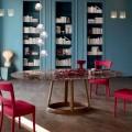 Bonaldo Greeny runder Tisch, Marmor Emperador Tischplatte,Design Italy