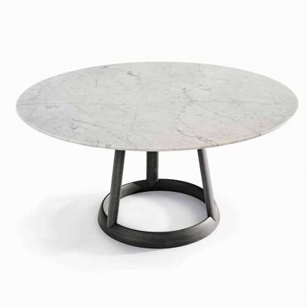 Bonaldo Greeny runder Tisch, Carrara Marmor Tischplatte, Design, Italy