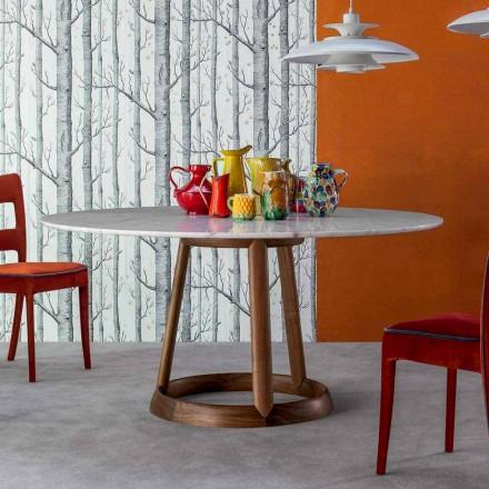 Bonaldo Greeny runder Tisch,Calacatta Marmor Tischplatte,Design Italy