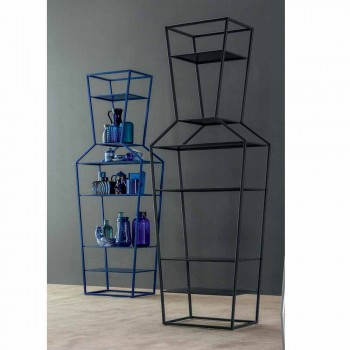 Bonaldo June farbiges Bücherregal aus Metall, Design H190xL70cm Made in Italy