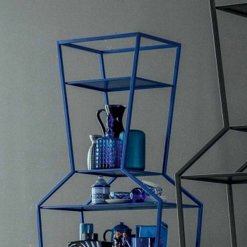Bonaldo June farbiges Metall Bücherregal von Design H190xL70cm made in Italy
