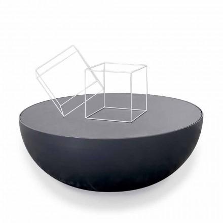 Bonaldo Planet Tischchen,satiniertes Kristallglas made in Italy Design