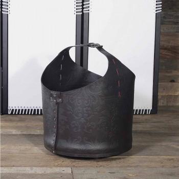 100% Made in Italy Michelangelo Leder Log Bag