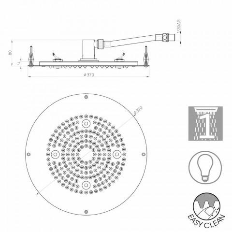 Bossini Duschkopf Runde zu einem modernen Jet mit LED-Leuchten
