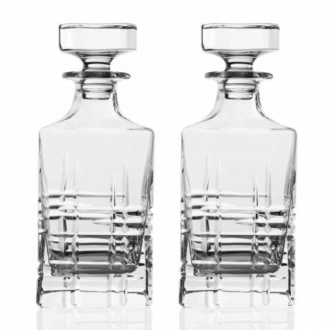 Flasche und Gläser für Luxus-Whisky aus ökologischem Kristall 6 Stück - Arrhythmie