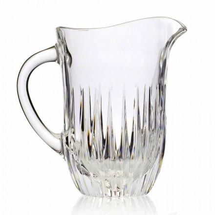 Öko-Kristallkrug mit handwerklicher Dekoration, italienischer Luxus, 2 Stück - Voglia