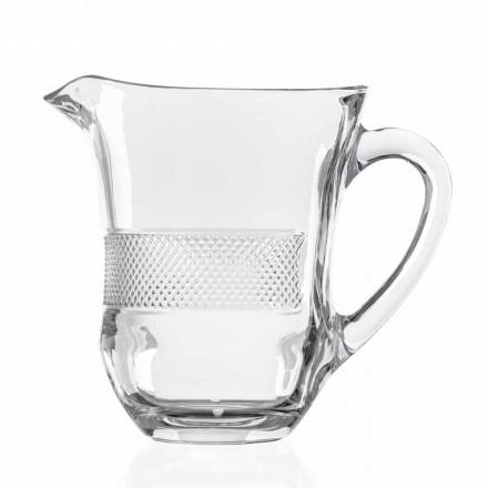 Luxus verzierter ökologischer Kristallglaskrug, 2 Stück - Milito
