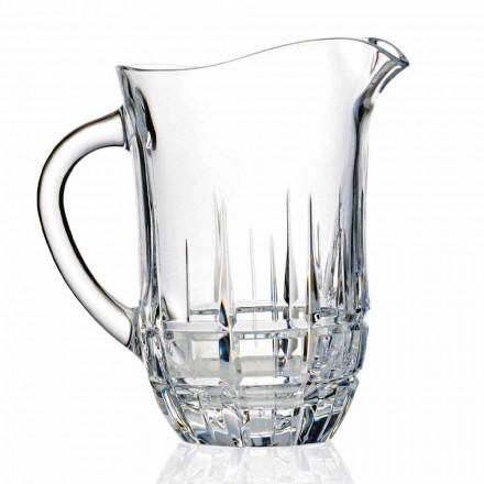 Dekorierte ökologische Kristallwasserkrüge, Luxusdesign, 2 Stück - Fiucco