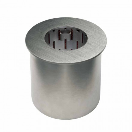 Rundbrenner aus satiniertem Stahl für Bioethanol-Kamin - Griff12