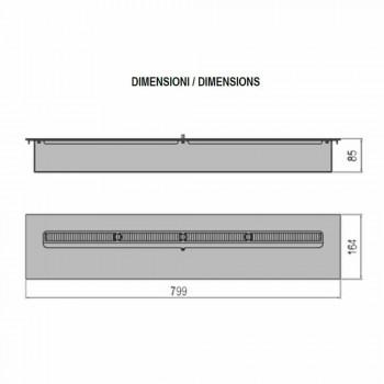 Linearer Handbrenner aus Edelstahl für Bioethanol-Kamin - Brandon