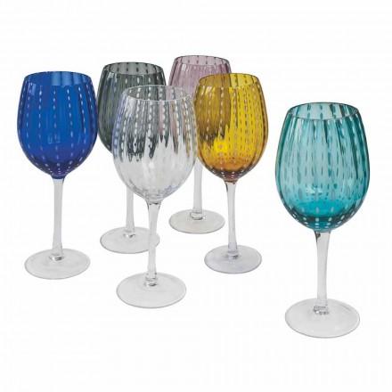 Farbige und moderne Glasweingläser 12 Stück Eleganter Service - Persien