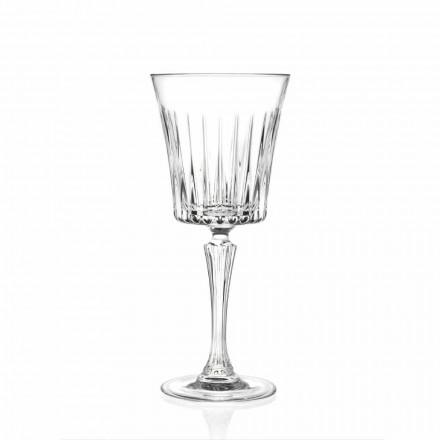 Luxus Wein und Cocktail Gläser Design in Eco Crystal 12 Stück - Senzatempo