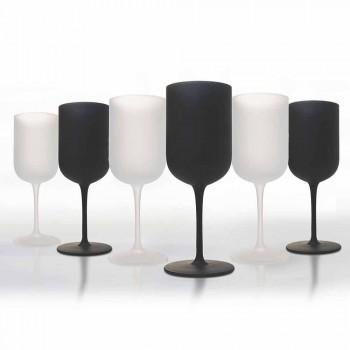 Becher aus Milchglas Weiß- und Schwarzwein Service 12 Stück - Norvegiomasai