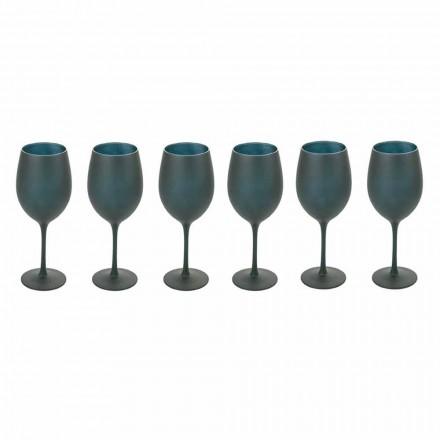 Rot- oder Weißweinbecher aus schwarzem Glas Full Service 12 Stück - Oronero