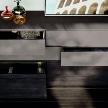 Komplettes Luxusschlafzimmer mit 6 Elementen Made in Italy - Etsch