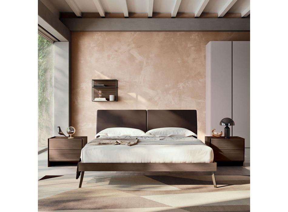 4 Elemente Schlafzimmer mit Doppelbett Made in Italy Luxus - Gamma