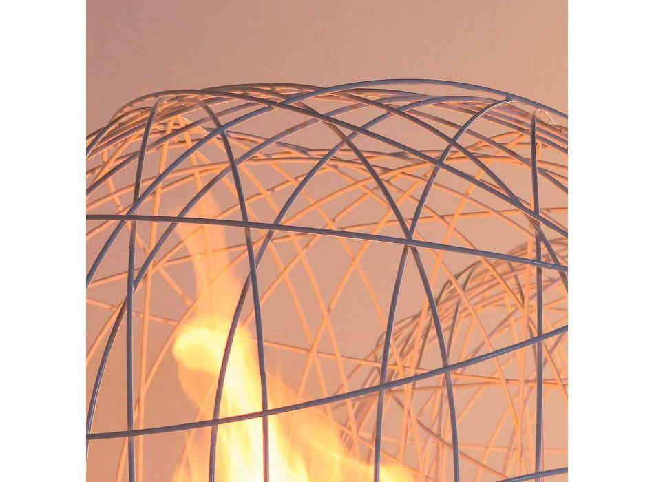 Kamin Bioethanol Tisch / Boden Stahl wie eine Kugel geformt Henry
