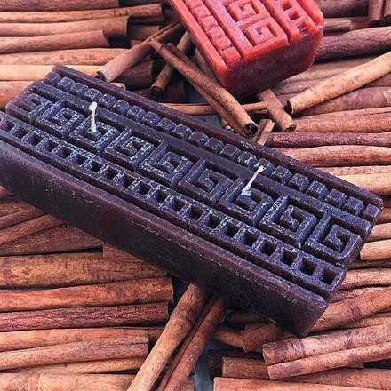 Handgemachte rechteckige Zimt-Duftkerze Made in Italy - Alissa