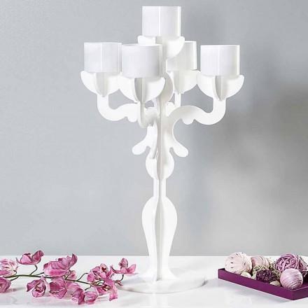 Mittlerer Kerzenhalter im Renaissance-Design, 5 Arme aus Plexiglas, Nulvi