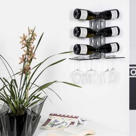 Luna geräucherte Wand Weinkeller Halter, modernes Design