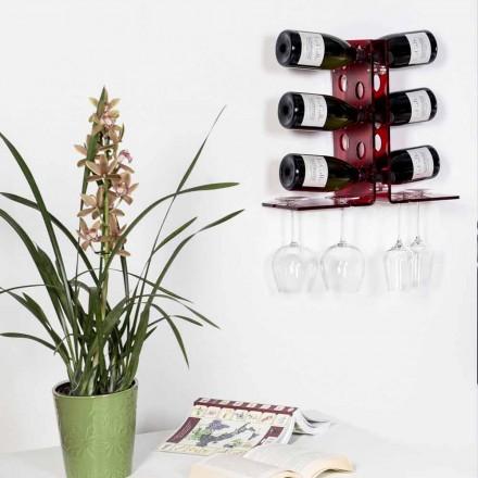 Luna Rotweinflaschenhalter, modernes Design