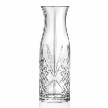 Vintage Design Eco Kristall Wasser oder Weinkrug 4 Stück - Cantabile