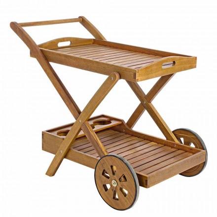 Design Acacia Wood Servierwagen - Roxen