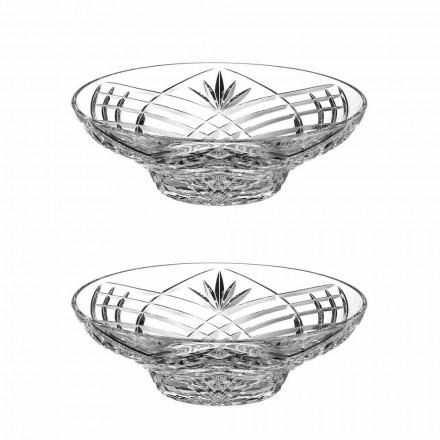 Vintage Design Herzstück in ökologischen Kristall 2 Stück - Cantabile