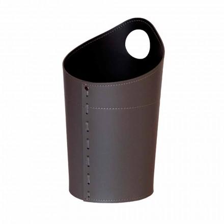 Papierkorb aus recyceltem Papier aus Ambrogio-Leder