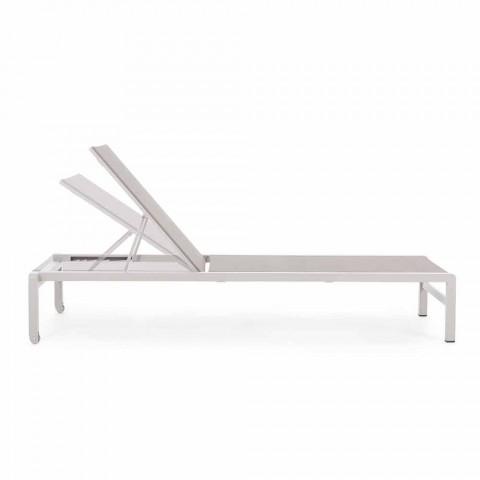 Homemotion Aluminium Liege Garten Chaiselongue, 4 Stück - Lester