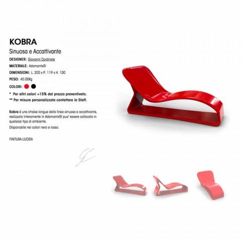 Chaiselongue Design Moderne Kobra Made in Italy