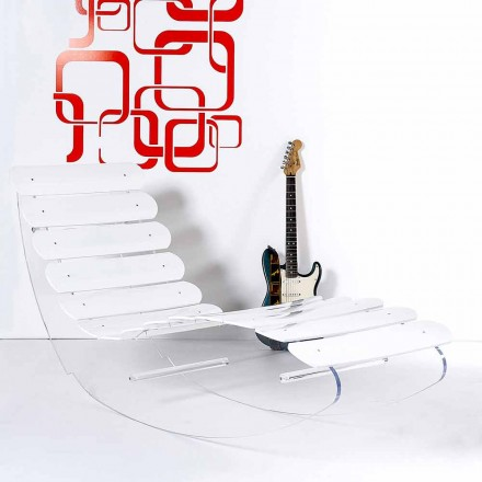 Designer Chaiselongue aus transparentem Plexiglas, Made in Italy