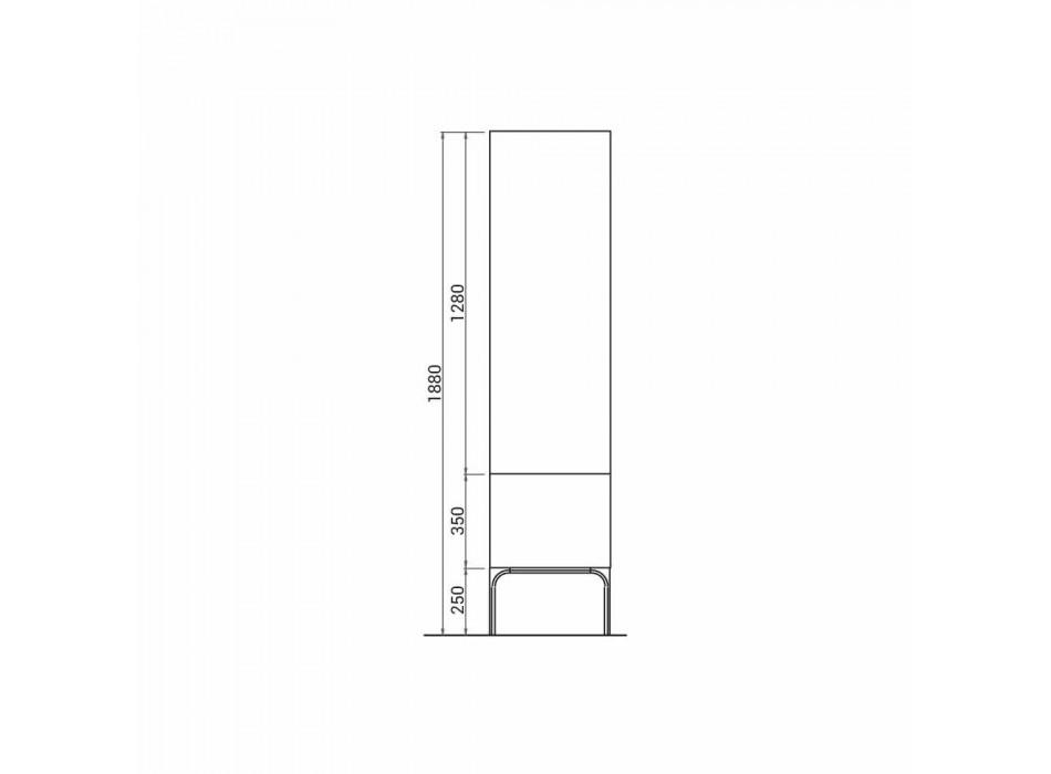 Amanda Badezimmerschrank aus Holz mit 2 Türen, modernes Design, Made in Italy